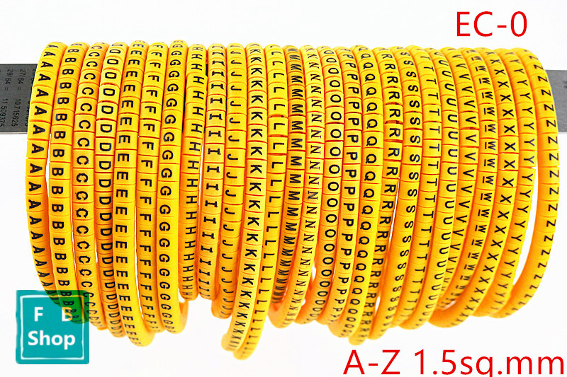 650pcs EC-0 1.5sq.mm A-Z ABCDEFGHIJKLMNOPQRSTUVWXYZ English Letter Flexible Print Sleeve Tube Label Network Wire Cable Marker650pcs EC-0 1.5sq.mm A-Z ABCDEFGHIJKLMNOPQRSTUVWXYZ English Letter Flexible Print Sleeve Tube Label Network Wire Cable Marker