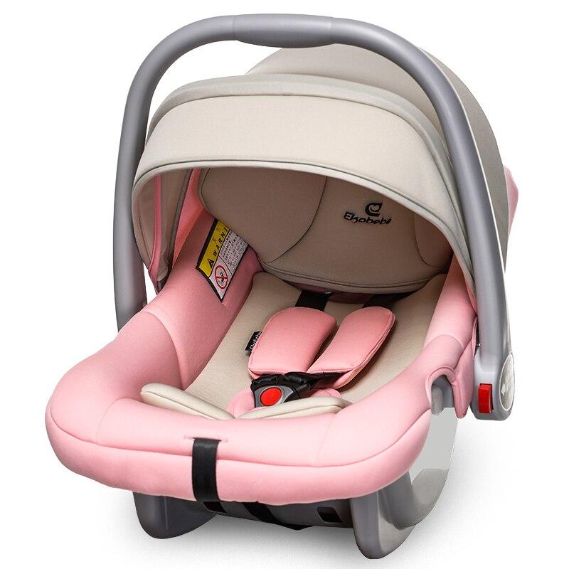 Baby Basket Child Safety Seat Car Newborn Baby Sleeping Basket Car Portable CradleThree-point Seat Belt Send Mosquito Net 0-15M