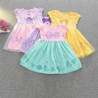 Kinder Kleid Prinzessin Schneewittchen Belle Sofia Meerjungfrau Kostüm Mädchen Geburtstagsparty Kleid Kinder Halloween Cosplay Kleid Größe 90-130