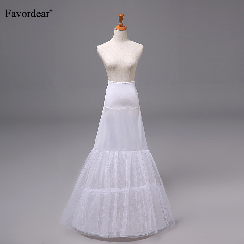 Wedding Accessories Lovely Favordear Underskirt White Floor-length Mermaid Wedding Dress Petticoat Elastic Lycra 2 Hoops 2 Tier Yarn Daily Petticoat To Rank First Among Similar Products