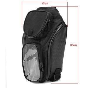 Image 2 - New Waterproof Motor Tank Bag Black Oil Fuel Tank Bag Magnetic Motorbike Saddle Bag Single Shoulder Bag Motorcycle Backpack