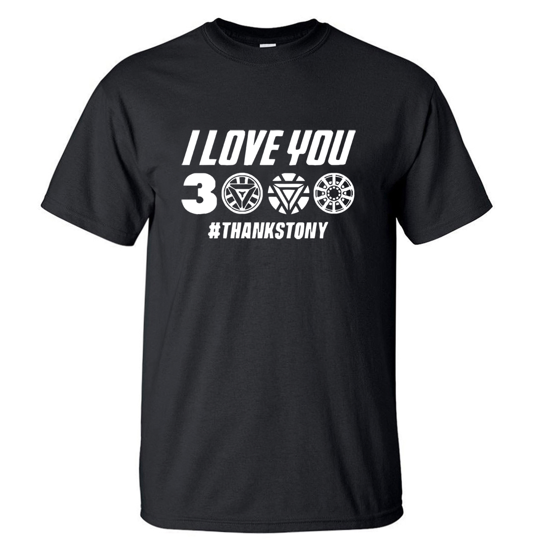 I Love You 3000 Times   T     shirt   Men Superhero Iron Man Tony Stark The Avengers Summer   T     Shirts   Cotton Short Sleeve Black Tshirt
