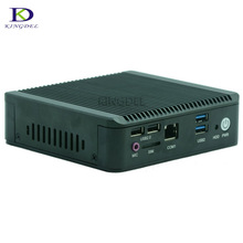 Low Price powerful Small computer Fanless mini pc Celeron J1800 Dual Core 2 lan 2.41Ghz mini pc barebone with Hdmi+Vga windows7