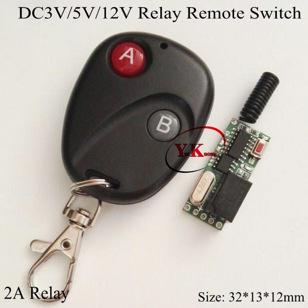 Remote Control Switch DC3V 5V 12V Miro Relay Mini Small Volume Remote ON OFF System 315