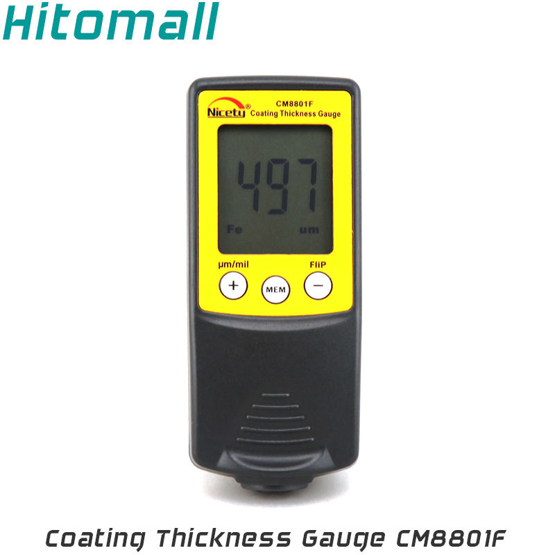 Handheld Coating Thickness Gauge Painting Thickness Measurement Film Thickness Meter Car Paint Tester CM8801F 0 1mm 0 001mm japan peacock dial thickness gauge paint thickness meter g 6c