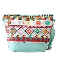 2017 New Fashion National Women Bucket Bag Canvas Shoulder Bags Handbag Female Famous Brand Totes Free