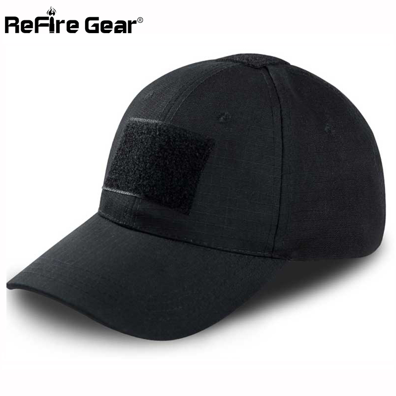 ReFire Gear Tactical Snapback Camouflage Hat US Army Tactical Baseball Cap  Men Casual Rip Stop Adjustable Paintball Combat Caps-in Baseball Caps from  ... bcccfcfecdb