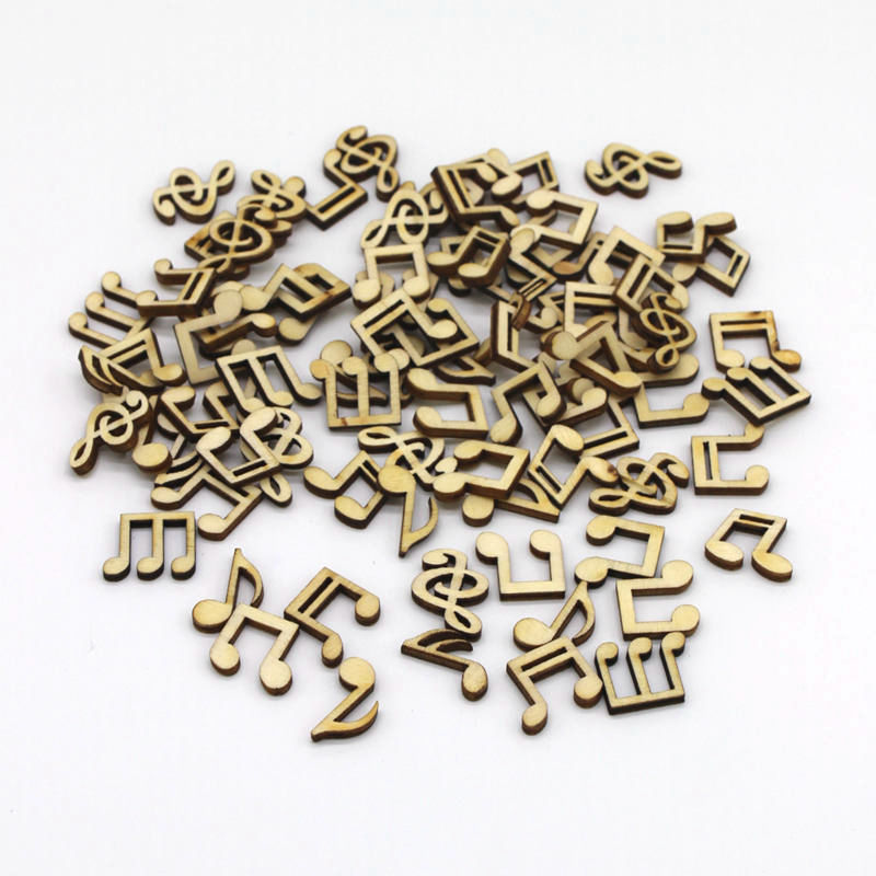 Home & Garden Helpful 100pcs/pack Wooden Musical Notes Wood Chip Home Decorations Buttons Mix Cute Diy Handcrafts Card Scrapbooking Decor Accessories Attractive And Durable Apparel Sewing & Fabric