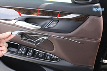 цена на Lapetus For BMW X5 F15 2014 - 2017 / X6 F16 2015 - 2018 ABS Inner Door Catch Handle Bowl Decoration Frame Cover Trim 4 Pcs / Set