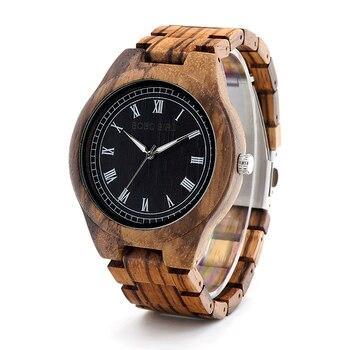 Bobo Bird madera relojes hombres madera natural correa hecha a mano Japón movimiento de cuarzo reloj de lujo hombres regalos Relogio Masculino