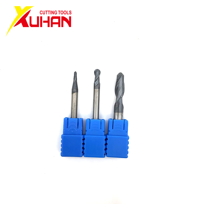Ball Nose End Mill 2 Flutes R0.5-R2.0 Cnc End Milling Cutter For Metal Face And Slot Machining Hrc50 Coated End Mills