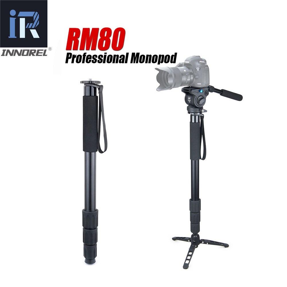 INNOREL RM80 8 kg urso compact DSLR profissional câmera monopé suporte para Canon Nikon luz portátil monopé vídeo fluid cabeça