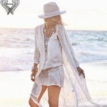 28d3306488 Bkning White Bikini Cover Up 2018 Summer Women Beach Dress Saida De Praia  Beach Tunic Playa Fringe Plus Bathing Suit Cover Ups