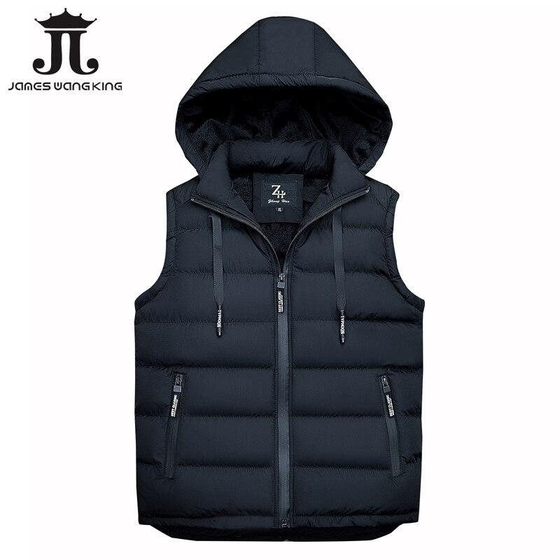 2018 New Autumn Sleeveless Hoodie Vest Men Fashion Waistcoat For Men Winter Fleece Warm Hooded Jacket Plus Size M-XXXL 1860