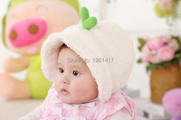 Free Shipping Winter Wool Like Cap Princess Hat Baby Kids Lovely Bonnet