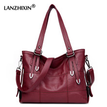 Lanzhixin Women Designer Leather Handbags Ladies Shoulder Bags Women Messenger Bags Crossbody Bags Bolsa Top-Handle Bags 3098