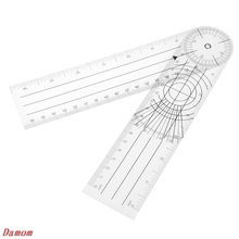 Userful Multi-Ruler 360 Degree Goniometer Angle Medical Spinal Ruler CM/INCH 1 pcs corner ruler crop tool cowhide leather special type right angle ruler tools dedicated ruler 30 20 cm inch and cm scale
