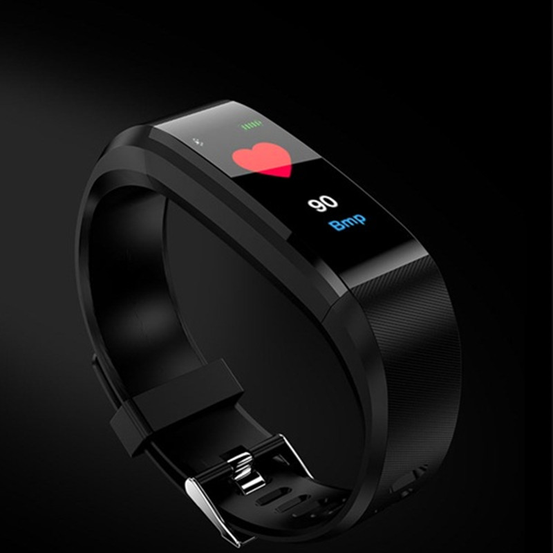 Smartch ID115 Plus Smart Bracelet BT4.0 Heart Rate Monitor Pulse Sports Fitness Tracker for Android iOS