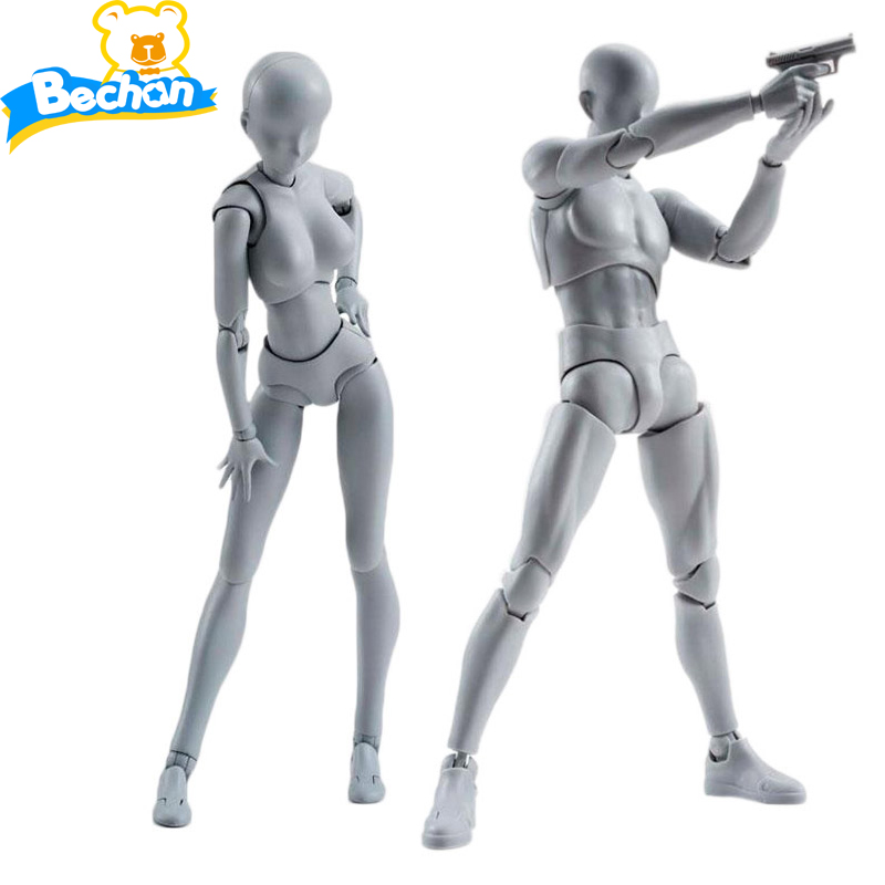 Anime Brinquedos BANDAI Tamashii Nations PVC Body Action Figure Collectible Model Doll Figma Female Male Chan Figures