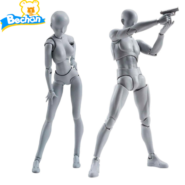 Brinquedos animado BANDAI Naciones Tamashii Cuerpo de PVC Figura de Acción de Colección Modelo Muñeca Figma Cuerpo Masculino Femenino Chan Figuras