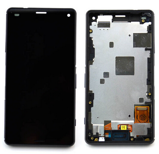Подробнее о High quality For Sony Xperia Z3 mini compact D5803 D5833 LCD Screen Display+Touch Screen Digitizer assembly with frame Black 10pcs free dhl black white lcd display touch screen digitizer assembly with frame for sony xperia z3 mini compact d5803 d5833