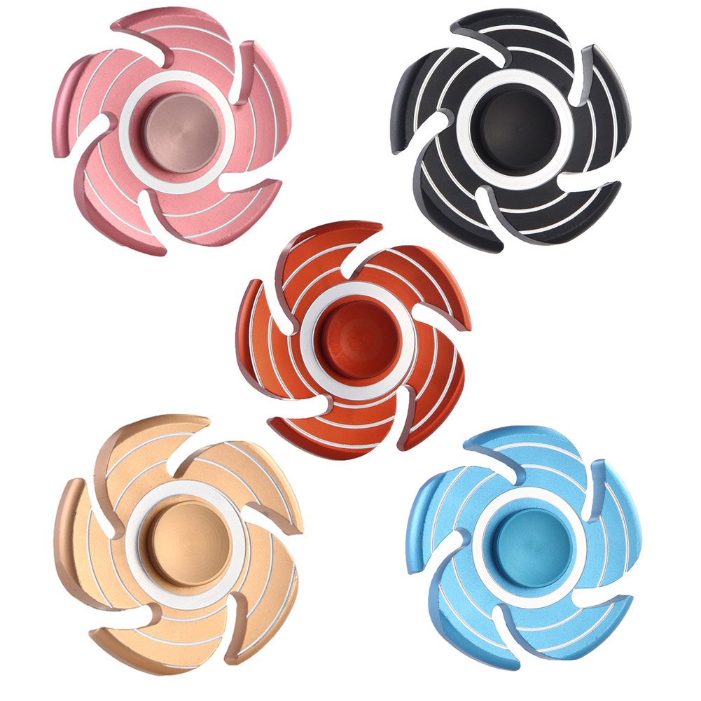 Fingertip Gyro Decompression Fidget spinner Five Leaf EDC Hand Anxiety Stress Relief Toys Spinner Fidget Aluminum alloy