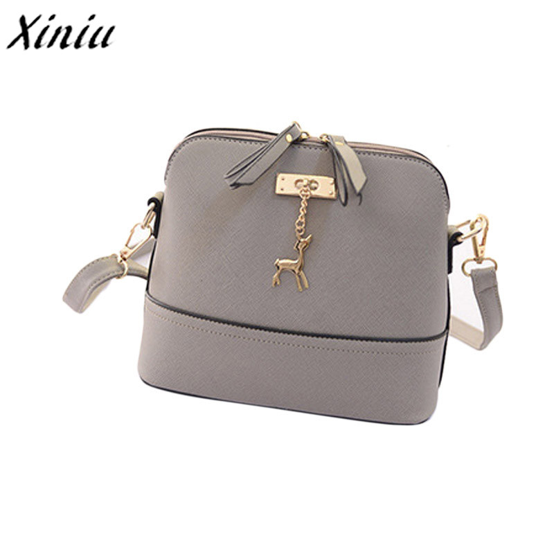 Newest!!! Women Messenger Bags Vintage Small Shell Leather Handbag Casual Bag PU Leather Shoulder Bag high quality high quality vintage ethnic embroidery bag features delicacy small handbag diagonal shoulder women messenger bags bs561