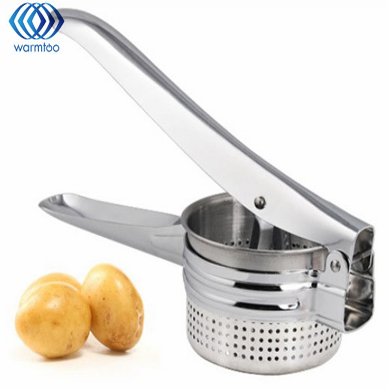New Stainless Steel Potato Masher Ricer Fruit Vegetable For Puree Fruit Juicer Maker Press Kitchen