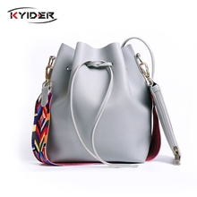 KYIDER Womens Handbags Ladies Famous Fashion Bucket Messenger Bags PU Leather Tassel Brands Tote Bag Versatile Crossbody