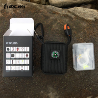 23 In 1 EDC Survival Kit Gear Hiking Outdoor Camping Set Fire Starter Paracord Wire Saw