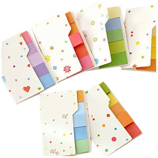 5X Fashion Hot Cute Post It Bookmark Marker Flags Index Tab Sticky Fresh Rainbow Mini Sticker Notes New (Size: 7.7*5cm)