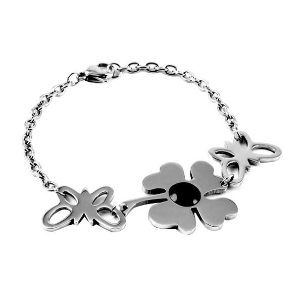 VCA-1 Fashion Women Cuff Bracelet Stainless Steel Lover's Popular Bracelet Crystal Inlay Gift Bracelet/Bangle Jewelry