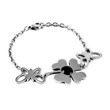 VCA-1 moda mujer brazalete de acero inoxidable amante de pulsera Popular cristal embutido regalo pulsera/brazalete