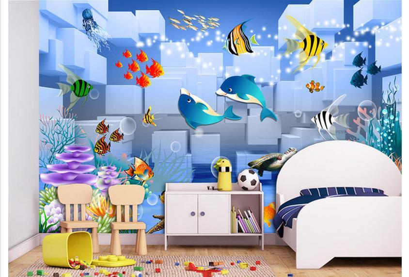 Customized 3d wallpaper 3d kids wallpaper murals 3 d for 3d wallpaper children