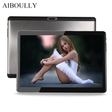 AIBOULLY 10.1 inch Android Tablet PC Octa Core 4GB RAM 64GB ROM 3G 4G LTE Phone Call Tablet Android 7 OS Dual SIM WiFi Tab 9.7''