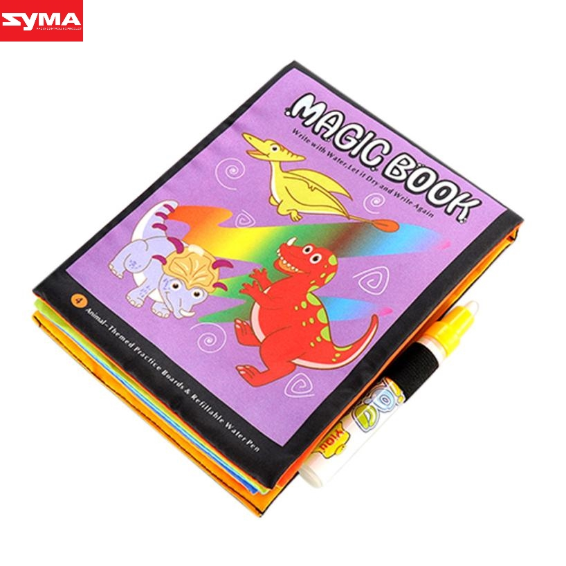 SYMA Drawing toys Magic Water Drawing Book Coloring Book Doodle Magic Pen Animals Painti ...