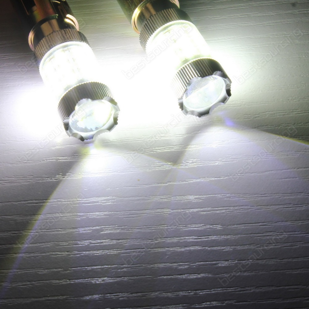 2pcs White 1157 380 BAY15d Bulb SAMSUNG 30W High Power Tail Stop Brake Light DRL(CA272)