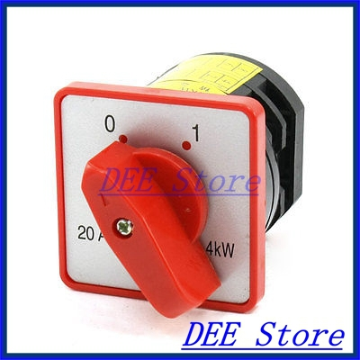 380V 20Amp 4kW 0-1 ON-OFF Universal Rotary Cam Changeover Switch 660v ui 10a ith 8 terminals rotary cam universal changeover combination switch
