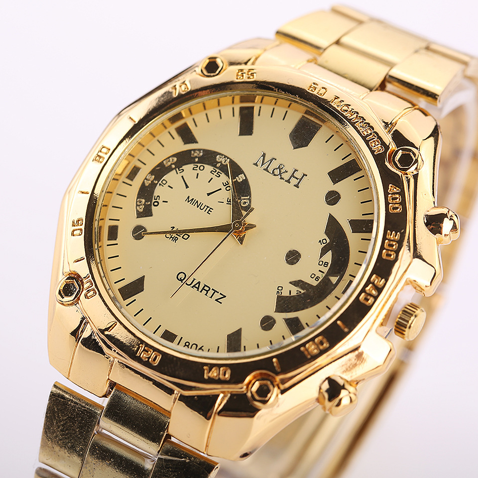 Relogio Masculino Watches Business-Watch Gold-Plated Men's Inventory Clear Cheap