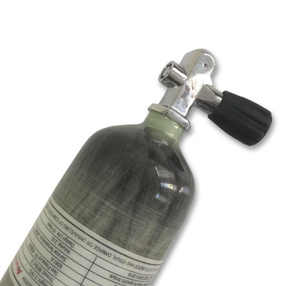 AC10351 اسطوانة غاز 3L زجاجة مسدس هواء الألوان الكربون 4500 psi البسيطة الغوص pcp بندقية من خزان الهواء و صمام الادسنس أجزاء