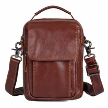 J.M.D Top Quality Leather Bag Brown Small Messenger Durable Shoulder Fashional Cross Body For Teenager 1032B-1
