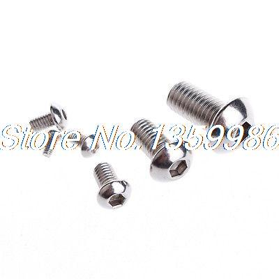 30Pcs <font><b>M6</b></font>*<font><b>25mm</b></font> Stainless Steel Button Head Socket Cap Screws Thread <font><b>M6</b></font> <font><b>25mm</b></font> Long image