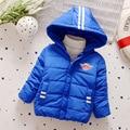 2016 новых детских пуховик Мальчики мода теплое пальто Дети толстая Одежда зимняя Верхняя Одежда Детская одежда для 3-5 лет