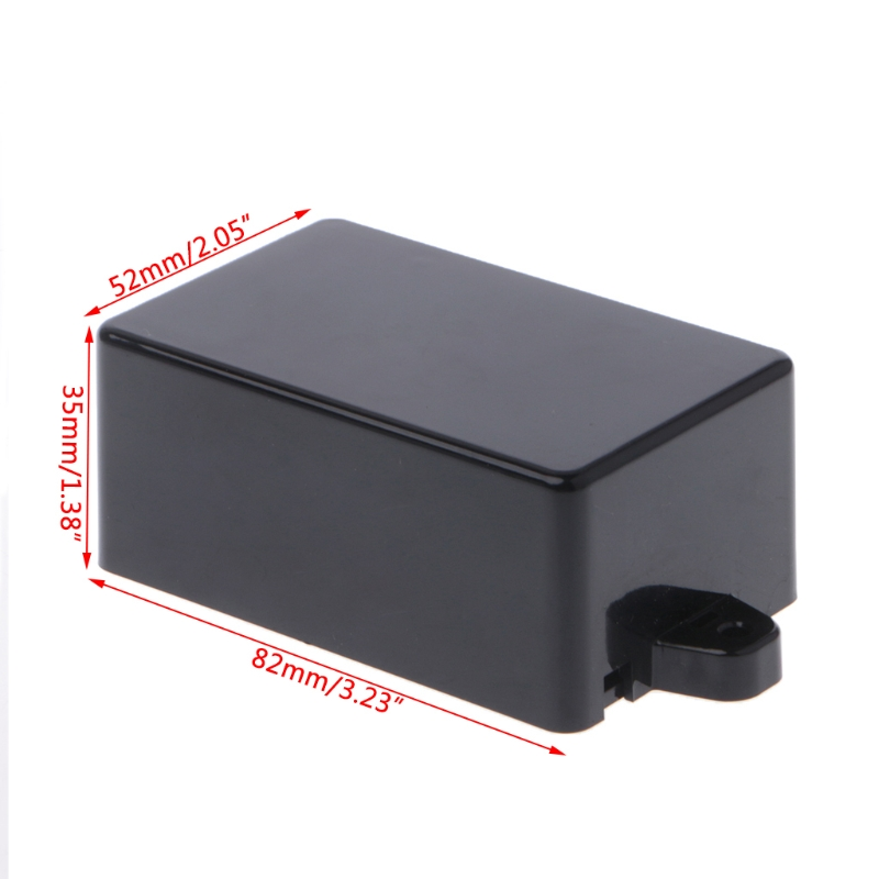 OOTDTY 65x38x22mm/82x52x35mm Connector Waterproof Plastic Electronic Enclosure Project Box Black Instrument Case 4pcs a lot diy plastic enclosure for electronic handheld led junction box abs housing control box waterproof case 238 134 50mm