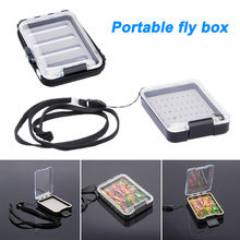 New Thickened Waterproof Hook Fly Fishing Tackle Box Foam Portable Carry Case Accessories LMH66