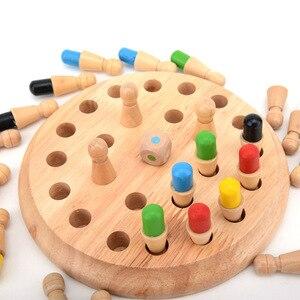 Image 2 - Enfants jeu de fête en bois mémoire Match bâton jeu déchecs amusant bloc jeu de société éducatif couleur capacité Cognitive jouet pour les enfants