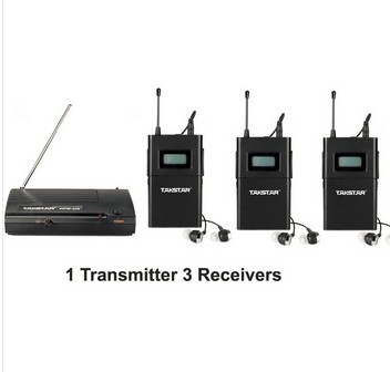 Takstar wpm-200/WPM 200 Wireless Monitor System For Recording studio monitoring/on stage monitoring 1 Transmitter+3 Receivers 2 receivers 60 buzzers wireless restaurant buzzer caller table call calling button waiter pager system