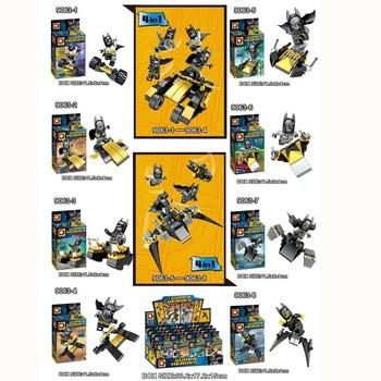 8 шт./лот Супер Герои Бэтмен фигурку строительные Конструкторы Игрушечные лошадки Набор Модель подарки для детей
