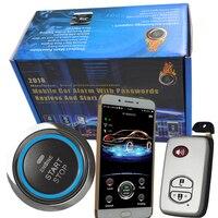 bluetooth auto keyless entry smart key push button start engine rfid immobilizer car alarm remote gps tracking china supplier