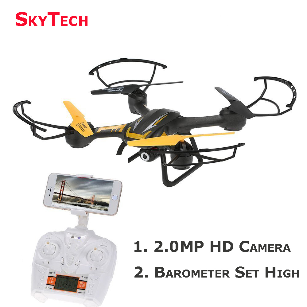 Skytech TK107W 2.4G 4CH 6-Axis Gyro Wifi FPV Real-time Headless Altitude Hold Mode RC Quadcopter Helicopter w/0.3MP Camera Drone professional drone 2 4ghz 4ch 6 axis gyro rc quadcopter fpv with 30w hd camera wifi real time transmission compass mode drones